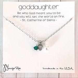 Swarovski Pearl & Crystal Goddaughter Necklace